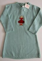 Janie & Jack Girls Sweater Dress Blue Skating Angel Size 4T NWT