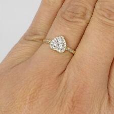 Wert 1520 € Brillant Diamant Ring dehnbar flexibel Herz 0,40 Ct 750er 18 K Gold