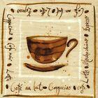 4 SERVIETTES EN PAPIER CAFE ECRITURE TASSE. 4 PAPER NAPKINS COFFE CUP WRITING
