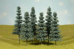 """Bachmann 32212 HO 8"""" to 10"""" Blue Spruce Trees (Set of 3)"""