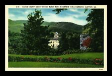 US LINEN POSTCARD RABUN COUNTY COURT HOUSE BLACK ROCK MOUNTAIN CLAYTON GEORGIA