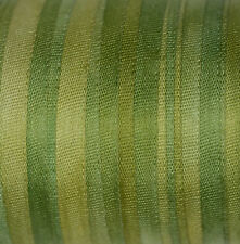 Silk Ribbon 7mm 100% Pure Embroidery Hand Dyed Avocado Green - 3mtr