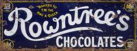 Rowntrees Chocolates Advert Sign Vintage Retro ENAMEL METAL TIN SIGN WALL PLAQUE