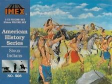Sioux Indians American History Series Imex 1/72 Scale Plastic Toy Soldiers #508