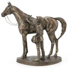Unsaddling the First by David Geenty Bronze Effect Sculpture Statue Ornament