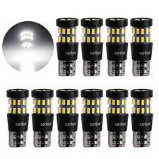 10Pcs T10 W5W 30 SMD 3014 LED chipset Super Bright White 194 168 2825 Light Bulb