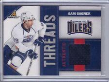 SAM GAGNER EDMONTON OILERS 2010-11 PINNACLE THREADS JERSEY 406/499 #SG