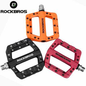 "ROCKBROS Lightweight MTB Bike Pedals Nylon Fiber Bicycle Platform Pedals 9/16"""