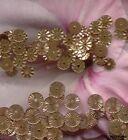 VINTAGE FRENCH SEQUINS Gold Copper Indent Metallic France Paillette 5mm & 6mm