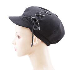 fashion Newsboy Cap Women Soft Warm Woolen Painter Hat Octagonal Cap Plain Beret