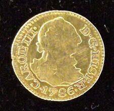 ESPAGNE - CHARLES III - 1/2 Escudo Or - 1786 - M Madrid - Traces soudure