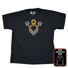 V8 Engine Pistons Gears T Shirt for Scania Truck Enthusiast Lorry Driver Trucker