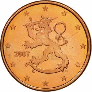 [#461247] Finlande, 5 Euro Cent, 2007, SPL, Copper Plated Steel, KM:100