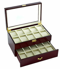 Watch Storage Box / Display Case New High Quality Diplomat Cherry Wood 20