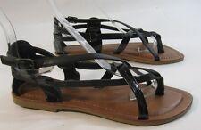 new Summer Black Shoes Roman Gladiator Sandals WOMEN Size 7.5