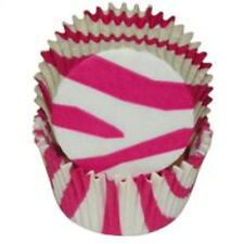 ZEBRA (HOT PINK & WHT) -  CUPCAKE LINERS - 50 Ct. -  Standard Size