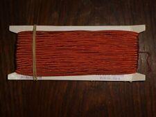 (0,40€/m) orange Soutache/Litze, Höhe ca. 0,3cm 50m auf der Pappe DDR OPEW