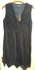 House of fraser Pied a Terre navy lace kiara knee length dress size 14 Bnwt