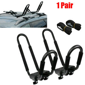 Universal Roof J-Bar Rack Kayak Boat Canoe Car SUV Truck Top Mount anti-theft