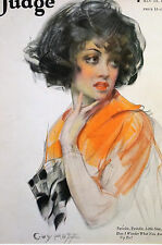Guy Hoff BEAUTIFUL WOMAN Cheating Husband Wife 1922 Matted JUDGE Art Cover