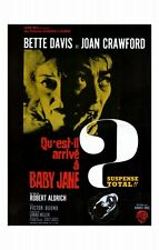 WHATEVER HAPPENED TO BABY JANE? Movie POSTER 11x17 French Bette Davis Joan