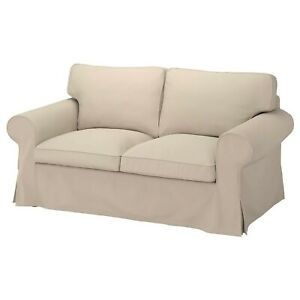 Ikea cover set for Ektorp 2-Seater Sofa in Hallarp Beige  304.723.57