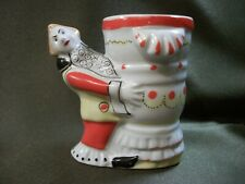 21A2 Clown with a vase, mustard plaster from the Circus set. Porcelain, USSR