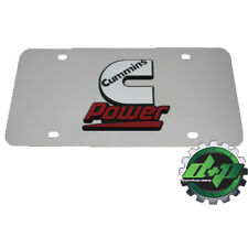 Dodge cummins power stainless steel license plate tag 3d emblem logo decal id
