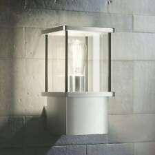 Außenwandleuchte Caspa Edelstahl Eckig Lampenwelt E27 Außenwandlampe Modern