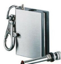 Porta Metal Survival Liquid Permanent Match Box Striker Lighters Key Chain New