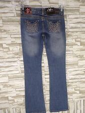 NWT Jeans De Fleur Vault Denim Jeans- Pocket With Rhinestones Size 3 (33 L)#sm19