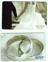 Walmart Gift Card LOT of 2 - Wedding Rings, Bride & Groom - Older - No Value