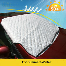 Car Snow Sun Frost Protect Shield Cover Magnet Front Windshield Protector Silver