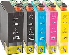 5x cartucho tinta Non-Oem para Epson xp510 xp520 xp610 xp615 xp620 xp820 26xl