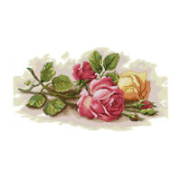 Dimensions Needlecrafts DIY Rose Counted Cross Stitch Kit for Adult Beginner