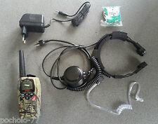 WALKIE TALKIE INTEK MT3030 MIMETIC+CARGADOR+LARINGOFONO CON PTT FRANDE MT3030M