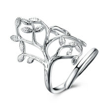 925Sterling Silver Fashion Jewelry Large Flower Ring Women Ring Size:Open BP935