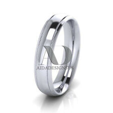 10K Gold Traditional Dome With Milgrain Wedding Band 5mm