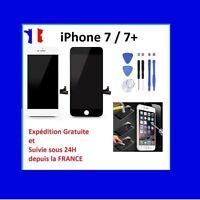 ECRAN LCD + VITRE TACTILE SUR CHASSIS POUR IPHONE 7 OU 7 PLUS + KIT OUTILS