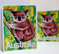 "#3486 American Airlines Australia Poster Style 4x3"" Luggage Label Decal Sticker"