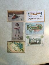 Lot Of 6 Vintage Postcards 1908 1912 1914 Easter Thanksgiving Best Friends More