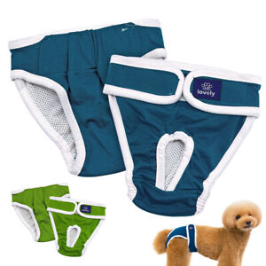 Washable Female Dog Diapers Reusable Pet Sanitary Pants Highly Absorbent&Elastic
