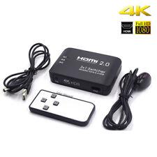 UHD 4K 60Hz HDMI 2.0 Switch Switcher Hub Box w/ Audio 3-Port 3In 1Out +IR Remote