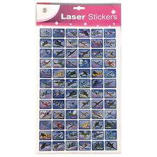 L6001,Airplanes School Laser Stickers, 5 Sheets (72 Sticker/Sheet) 4719861010283
