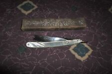 Extra Rare Wade & Butcher Straight Razor Carved Mother of Pearl *Worldwide*