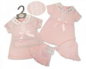 Baby girls clothes Spanish style bow dress and hat set newborn 0-3 3-6 months