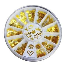 3D Wheel Gold Nail Art Decorations Decal Sticker DIY Stamping Manicure Christmas