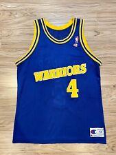 Vintage Champion Golden State Warriors Chris Webber #4 Jersey NBA Cwebb Sz 44