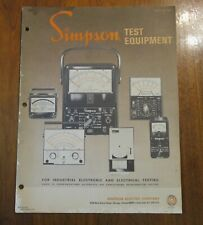 Simpson Electric Co. Test Equipment Instruments Meters Catalog Products Print Ad