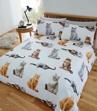 """😻🐾🐈😹Fusion """"Cats"""" Fun & Funky Easy Care Duvet Cover Bedding Set King Size"""